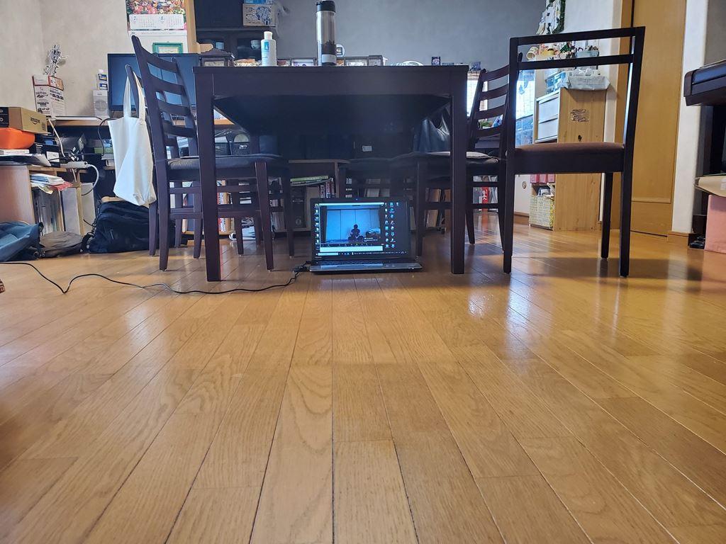 オンラインヨガのノートパソコン